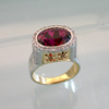 Regal palladium and gold, pink tourmaline ring