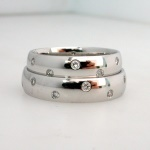 platinum diamond set wedding rings