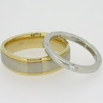 TV shape gents wedding band
