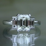 Art deco style, diamond engagement ring