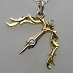 Sagittarius diamond set, gold pendant