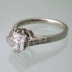 Ornate platinum engagement ring