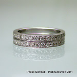Full ET grain set diamond wedding bands