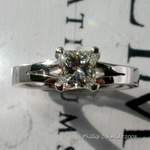 Elegantly styled princess cut