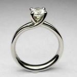 Elegantly styled platinum ring