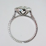 Pave halo ring
