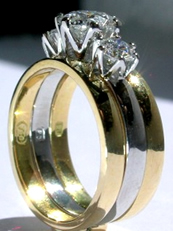 Platinum & Gold wedding set
